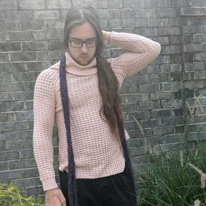 Rue 21 Pastel Pink Knit Cowl Neck Sweater